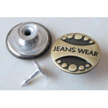 Silver Moving Jeans Buttons B292